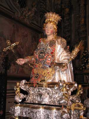 Festival in honor of Santa Venera, main patron of Acireale