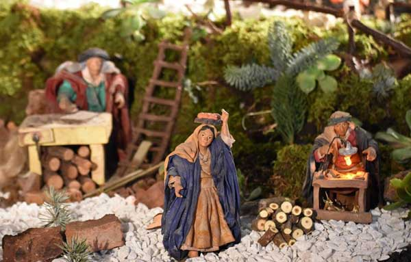 Artistic Nativity Scene in San Giovanni La Punta